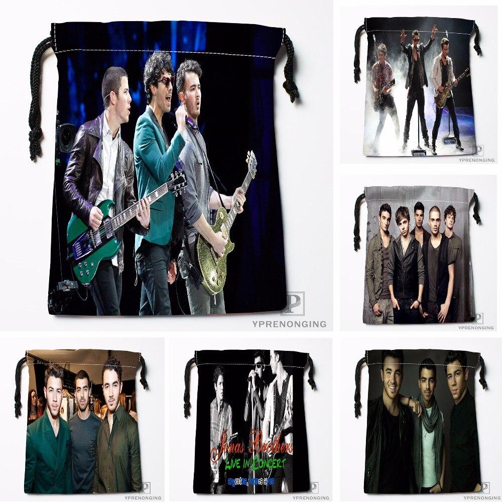 Custom Jonas Brothers Drawstring Bags Travel Storage Mini Pouch Swim Hiking Toy Bag Size 18x22cm#0412-03-21