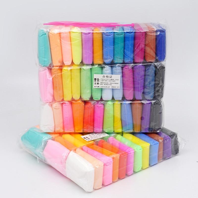 36 cores Conjunto Ferramenta de Argila Super Leve com 3 Ar Seco crianças Lodo Plasticina Plasticina Brinquedos Educativos Artesanais 5D para As Crianças