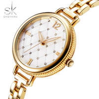 Shengke Women Watches Top Famous Brand Luxury Bracelet Quartz Watch Female Ladies Watches Women Wristwatches