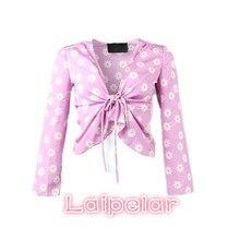 Summer korean polka dot chiffon blouse Sexy women tops and 2018 Cherry bow long sleeve kimono shirts blusas blouses