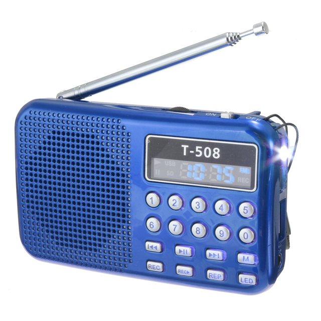 3 Цветов Портативный Цифровой СВЕТОДИОДНЫЙ Дисплей Панели Стерео FM Радио Спикер USB TF SD Card Аккумуляторная MP3 Плеера