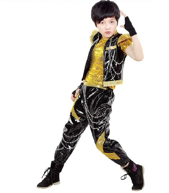 Competition Prom Gown Children\'s Costumes Jazz Dance Dress Hip Hop ...