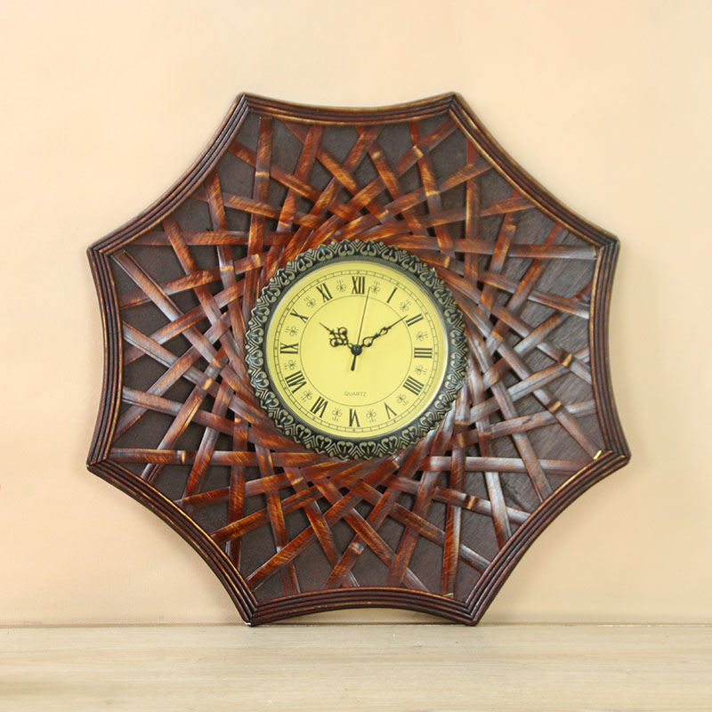 20Big Antique Wall Clock Creative Wooden Wall Clock Simple Design Retro Vintage Clocks Decorative Timer Wood Watch Home Decor