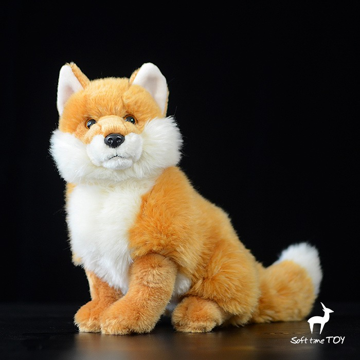Plush Red Foxes Doll Toy  Simulation Firefox  Stuffed Animals  Child Gifts Toys  Stores plush dinosaur doll child toys magic dragon simulation stuffed animal toy dolls stores