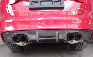 Cubierta del difusor del alerón del parachoques trasero de fibra de carbono para 16 17 18 Jaguar XF 2016 2017 2018 rápido por EMS
