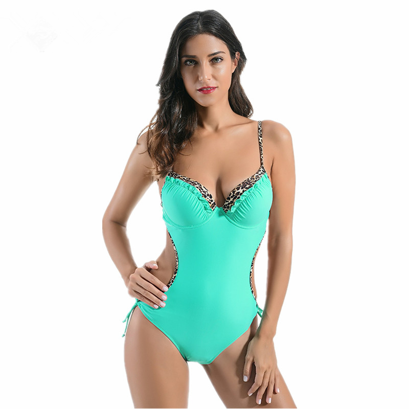 Summer Swimming Suit 2017 for Womens Sexy One-piece Swim Suit Monokini High Cut Out Bodysuit Swimsuit Female Swimwear Black fashionable strappy printed cut out one piece swimsuit for women