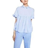 Plus Size 2XL Maxi Loose Casual Women S Clothing Shirt Blouse Top Short Sleeve Peter Pan