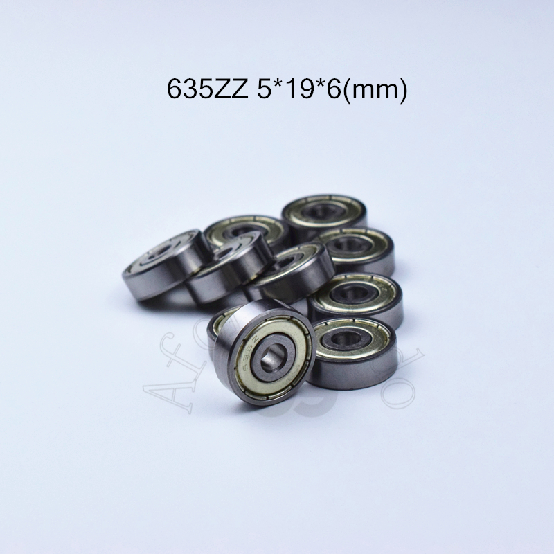 635ZZ 5*19*6 (mm) 10pieces Free Shipping ABEC-5 Bearings 10pcs Metal Sealed Miniature 635 635Z 635 ZZ Chrome Steel Bearings