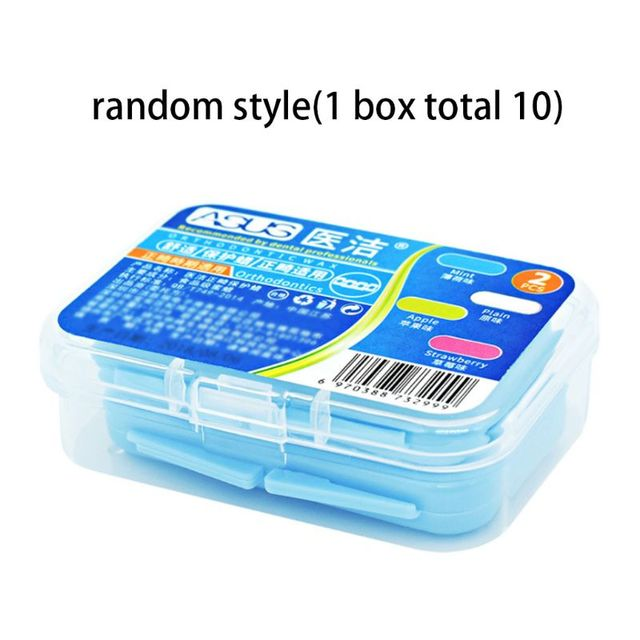 10 Strips/Box Dental Orthodontics Braces Gum Protection Wax Fruit Flavor Teeth Whitening Oral Care With Box Portable Random Type