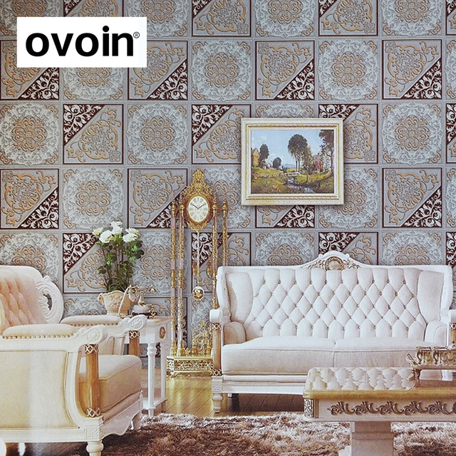 Fashion Vintage Palace Brick Style Wallpaper Roll Moroccan Elegant Tile Design Wall Paper For Living Room