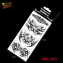 Real Fashion Women Sexy Black Temporary Tattoo Body Art Flash Stickers Waterproof Henna