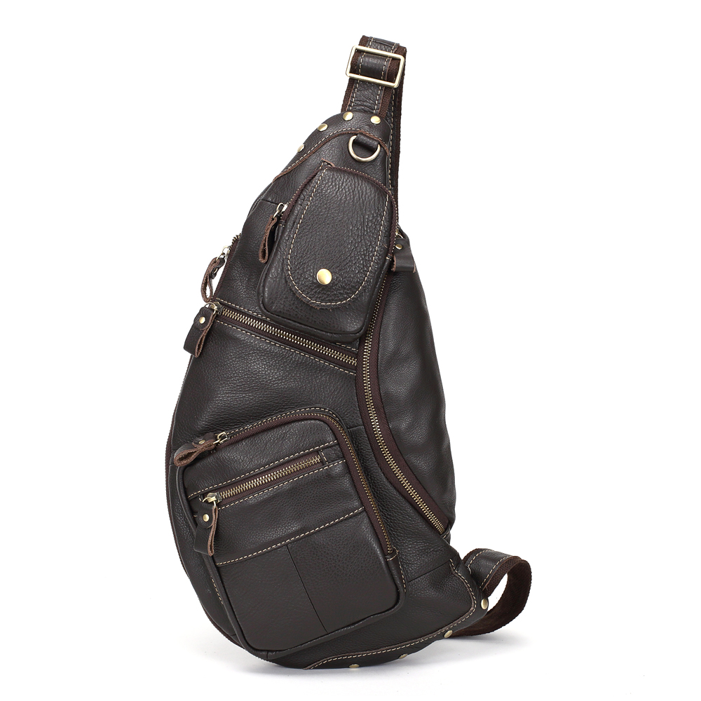 MEIGARDASS Genuine Leather Messenger Bag Men Chest Bag Sling Shoulder Bags Male Crossbody Bags for Men Cowhide Travel Chest Pack brand genuine leather casual chest pack sling bag men s cross body shoulder bags male cowhide messenger bag for ipad mini wallet