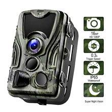 Goujxcy hc801 caça câmera 16mp trail câmera de visão noturna floresta à prova dwildlife água câmera da vida selvagem foto armadilhas câmera chasse scouts