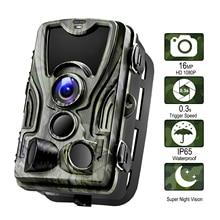 HC801A охотничья камера 16MP Trail камера ночного видения лес Водонепроницаемая дикая ловушки для фотоаппаратов камера Chasse скауты HC-801A