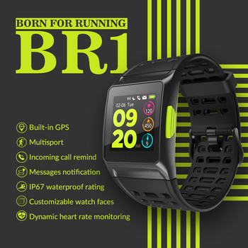 11.11 Makibes BR1 GPS Men's Women Smart Watches Bluetooth Strava ECG PPG Wristwatch Fitness Tracker Wearable Devices Smart Band 1