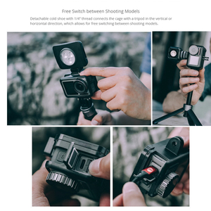 Image 4 - PGYTECH Camera Cage Accessory Protection Housing Frame Case Universal Interface Expansion Accessories for DJI OSMO Action