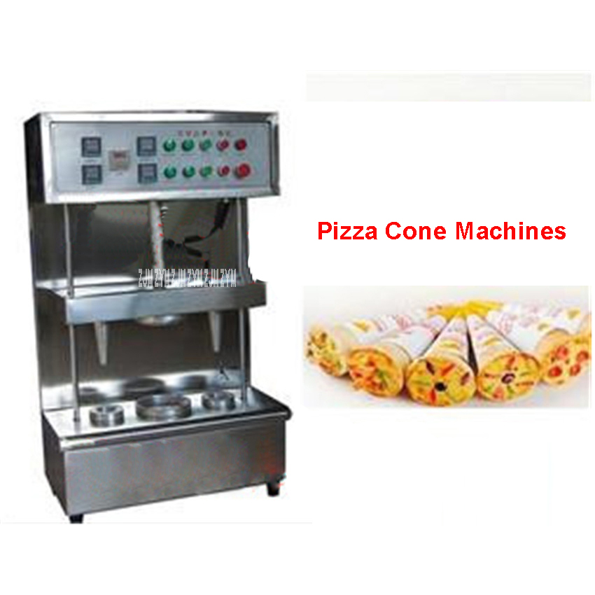 High quality machine Pizza Cone 2 cone maker Spiral shape pizza machine 220V/50 Hz umbrella cone pizza/ stainless steel Material