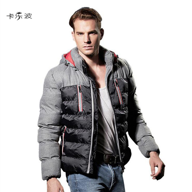 Men's Clothing Winter Feather Cotton Clothing Men's Warm ...