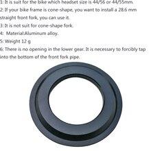 Велосипедное головное базовое кольцо ighAluminum Alloy Spacer диаметр короны 28,6 мм коническая рамка установить прямую переднюю вилку
