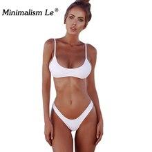 Women Bikini Set Solid Minimalism Le Sexy