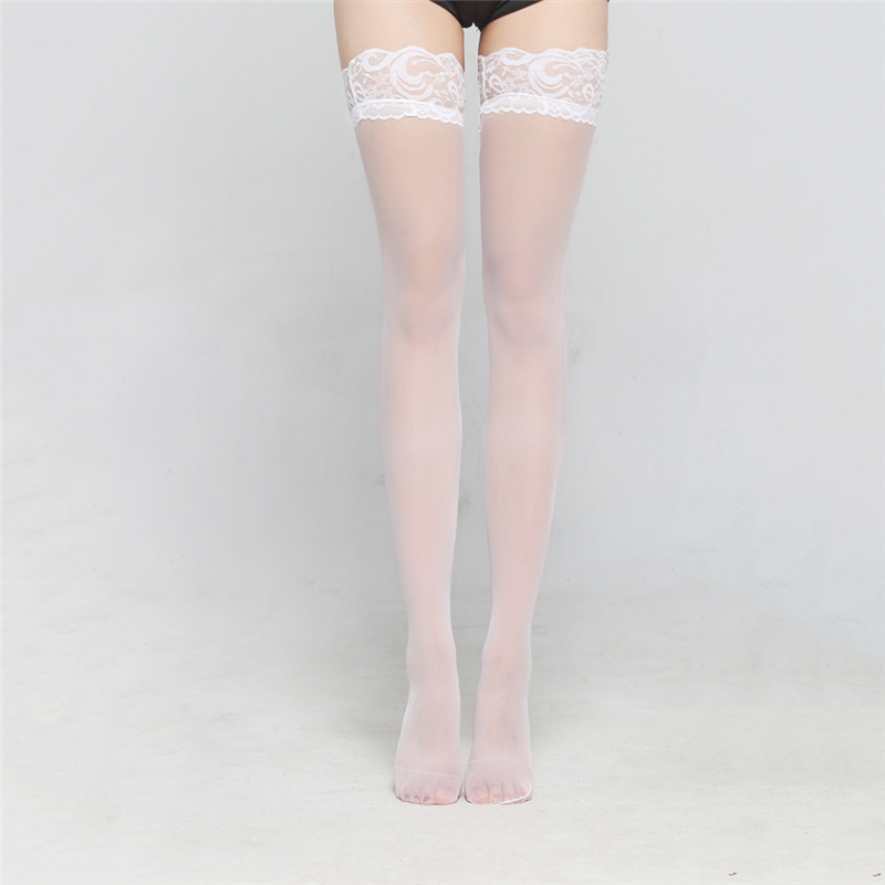 Women's Socks & Hosiery Stockings Sexy White Black Lingerie Lace Stocking Transparent Stock Hot Legs Long Tube High Tube Thigh Stockings Reasonable Price