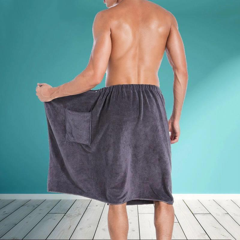 Comfortable Men's Bath Towel with Pocket