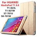 Чехол Для Huawei MediaPad T1 8.0 PU Защитный Смарт-чехол Кожаный Планшет Для HUAWEI Honor T1-823L T1-821W S8-701U/W Протектор