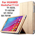 Case For Huawei MediaPad T1 8.0 PU Protective Smart cover Leather Tablet For HUAWEI Honor T1-823L T1-821W S8-701U/W Protector