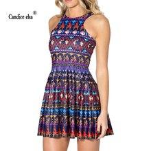 CANDICE ELSA woman dress digital printing wholesale plus