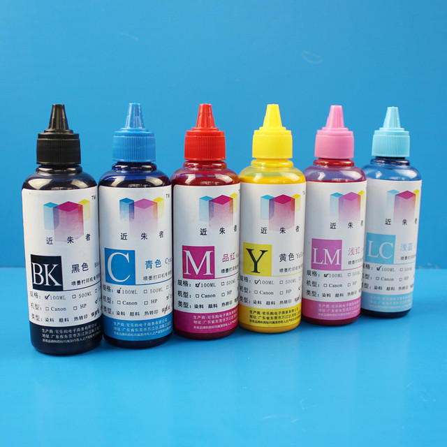 100ML 6Colors Universal Coated Pigment Refill Ink Kit For EPSON Inkjet Printer Direct Print