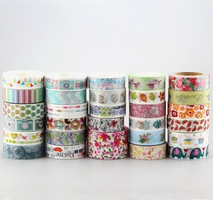 Image 2 - DHL free shipping Cute Kawaii 100pcs / Lot Tape Flowers Scrapbooking DIY Decorative Adhesive Japanese Washi Paper Tape For Gift