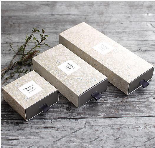 20pcs/lot Kraft Tea Drawer-type Creative gift box soap tea pull box cosmetic drawer carton drawer