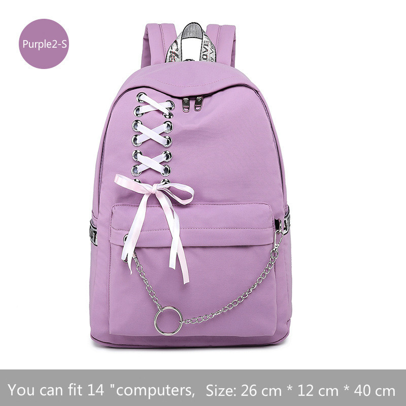 Image 4 - Fashion Girl Schoolbag Female Students Laptop Backpack Kids School Bags For Teenage Girls Women Gray Backpacks Mochila Escolar-in School Bags from Luggage & Bags