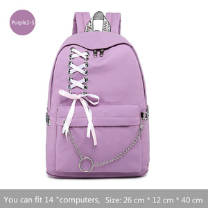 Image 4 - Fashion Girl Schoolbag Female Students Laptop Backpack Kids School Bags For Teenage Girls Women Gray Backpacks Mochila Escolar