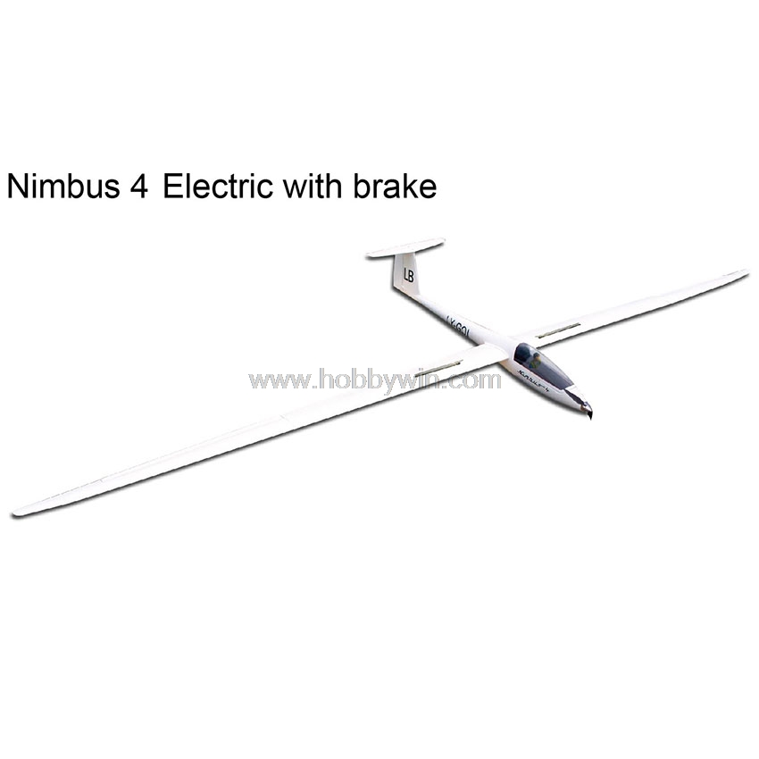 Nimbus 4000mm Electric Glider with brake Retract Motor Propeller Spinner Esc Servo RC Model Fiberglass Sailplane