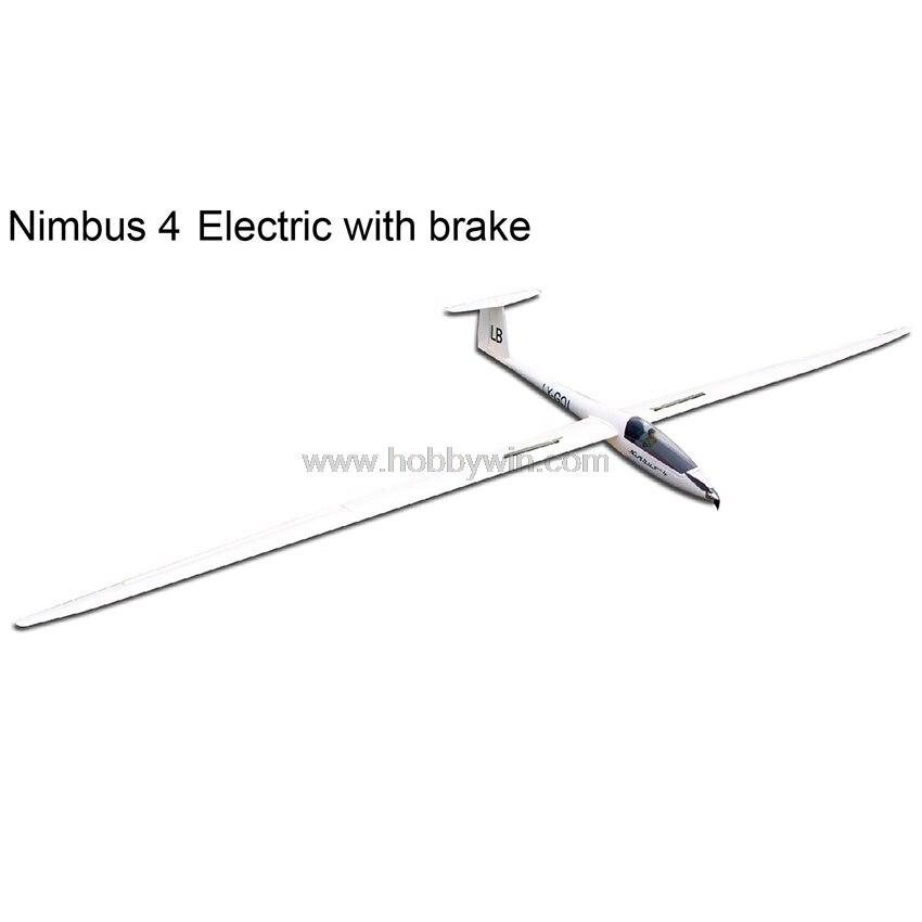 Planeur électrique Nimbus 4000mm avec frein rétractable moteur hélice Spinner Esc Servo RC modèle en fibre de verre planeur