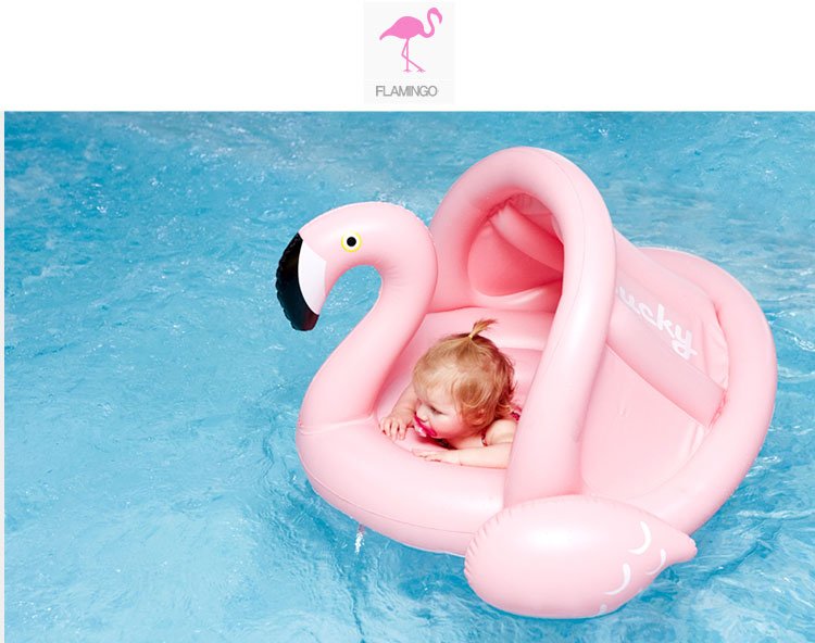 Summer Water Sports Pool Kiddie Funny Cute Flamingo Baby