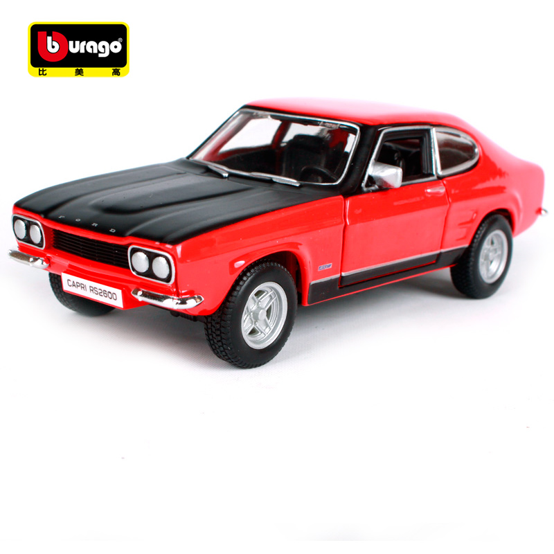 Bburago 1:32 1970 FORD Capri RS2600 Retro Classic avtomobil Diecast - Igrače vozila