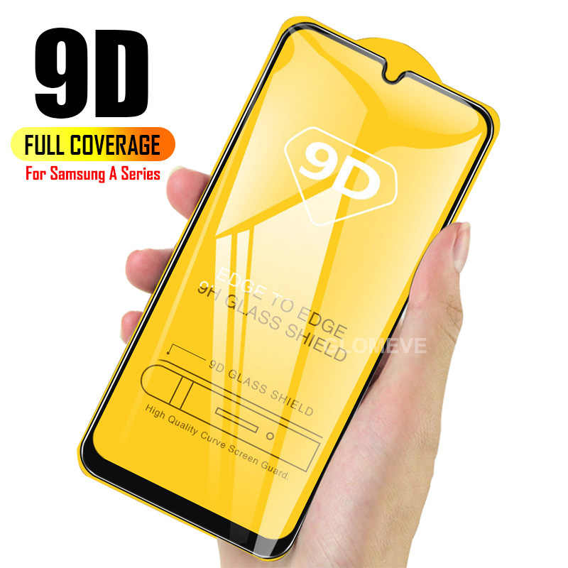 9D Full Curved Tempered Glass For Samsung Galaxy A50 A30 A10 Screen Protector For Samsung M20 M10 M30 A40 A70 Protective Film