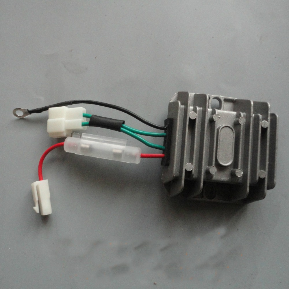 medium resolution of 4 wires automatic voltage regulator rectifier 12v avr single phase 178f 186f 186fa generator spare parts charge regulator