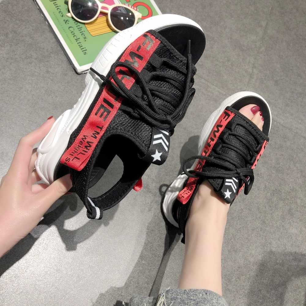 Mùa Hè Đế Bằng Nữ Dép Nữ Đế Hở Ngón Đi Biển Cho Giày Nữ Thoáng Giày Sandal Nữ Mujer