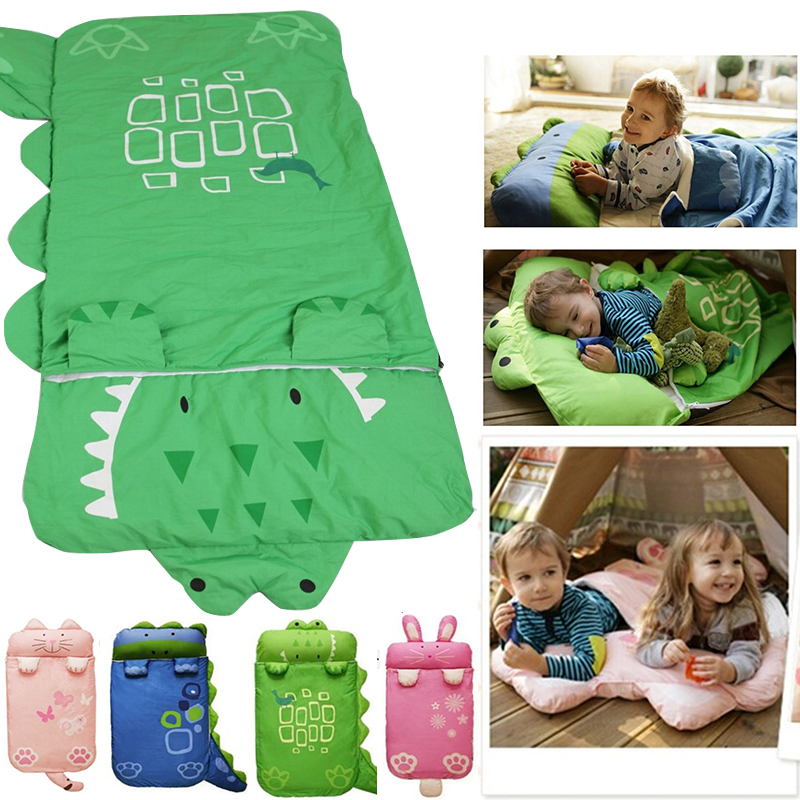 ФОТО 2016 New Animal Baby Sleeping Bag For Children 140*60 Fall And Winter Keep Warm Prevention Kicking Quilt Cotton