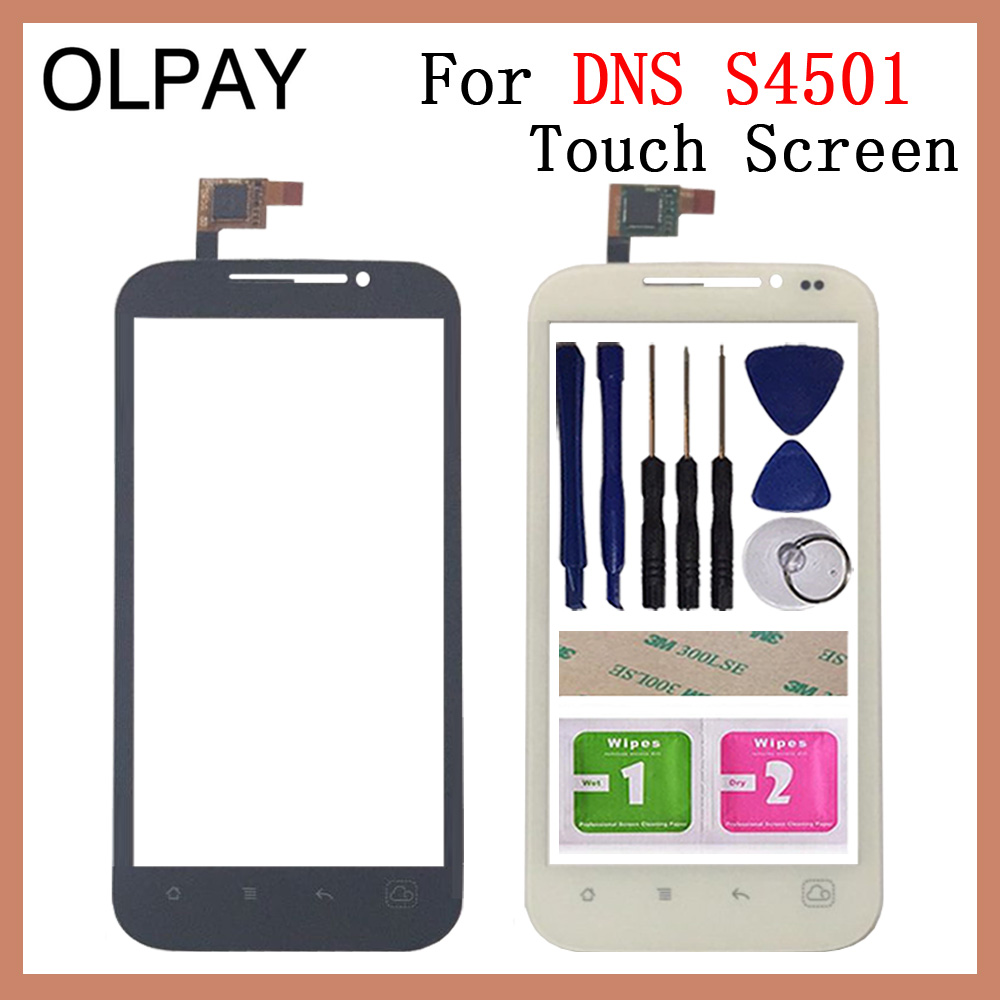 OLPAY 4.5'' Mobile Phone For <font><b>DNS</b></font> <font><b>S4501</b></font> S4501M Touch Screen Glass Digitizer Panel Lens Sensor Tools Free Adhesive And Wipes image