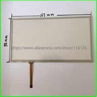 7 zoll 4 Draht Resistiven TouchScreen Panel Digitizer für PIONEER JVC KW-AVX826 kompatibel AUTO DVD 166*92 167 * 92mm
