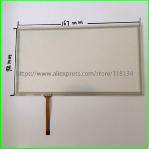 7Inch 4Wire Resistive TouchScreen Panel Digitizer for PIONEER JVC KW-AVX826 compatible CAR DVD 166*92 167*92mm(China)