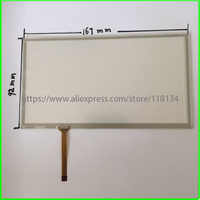7Inch 4Wire Resistive TouchScreen Panel Digitizer for PIONEER JVC KW-AVX826 compatible CAR DVD 166*92 167*92mm