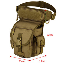 Waterproof Portable Ourdoor Tactical EDC Molle Fanny Pack Military Sawt Leg Belt Bag Utility Gadget Security