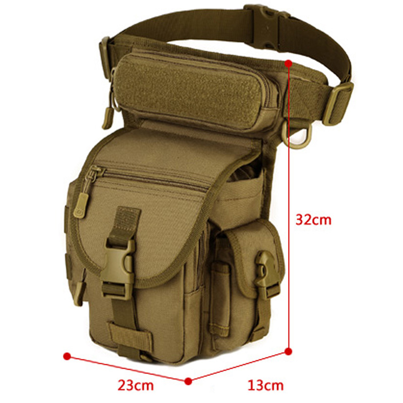 Waterproof Portable Ourdoor Tactical EDC Molle Fanny Pack Military Sawt Leg Belt Bag Utility Gadget Security Pack Carry Bags