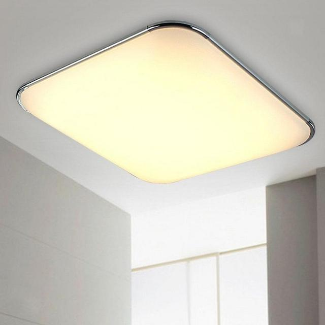 Square Ceiling Flat Panel Down Light Chandeliers Fixtures Warm White Modern Led