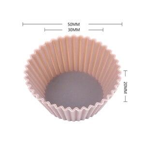 Image 3 - Mini moldes de silicona para cupcakes, herramientas de silicona para Tartas, magdalenas, 12 unids/lote
